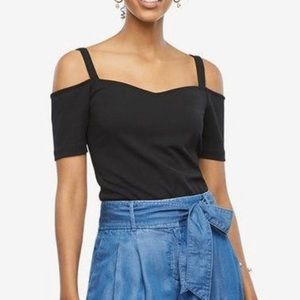 Ann Taylor Off Shoulder Black Top XS